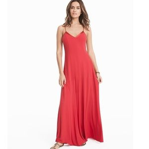 CLEARANCE❤️🔥NWT WHBM Red Lace Up Maxi Dress